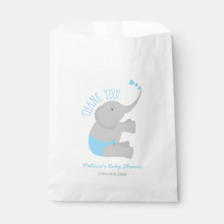 Sweet Blue Gray Elephant Baby Shower Favour Bags