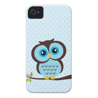 Sweet Blue Owl Case-Mate iPhone 4 Cases