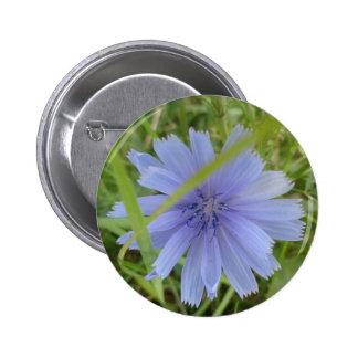 Sweet Blue Purple Flower 6 Cm Round Badge