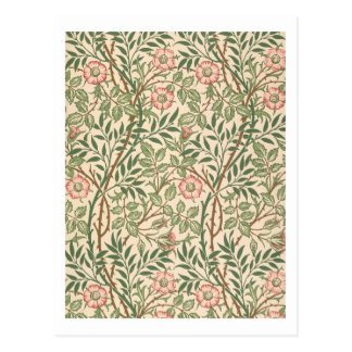 'Sweet Briar' design for wallpaper, printed by Joh Postcard
