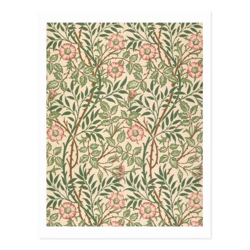''sweet Briar' Design For Wallpaper, Printed By Joh Postcard