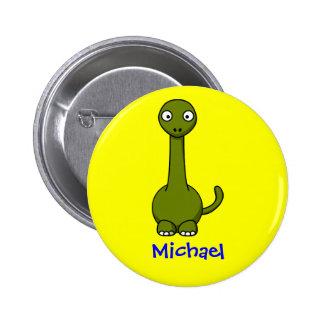 Sweet brontosaurus 6 cm round badge