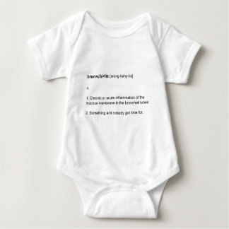 Sweet Brown aint got time for Bronchitis Baby Bodysuit