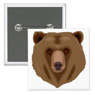 Sweet Brown Bear 15 Cm Square Badge