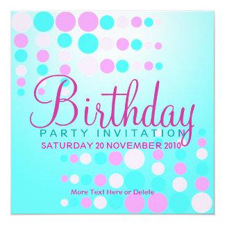 "Sweet Bubbles Party / Birthday Invitation 5.25"" Square Invitation Card"