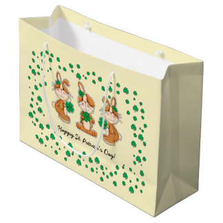 Sweet Bunnies St.Patrick's Day Custom Gift Bags