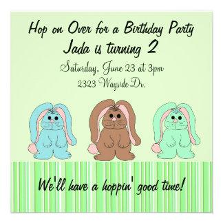 Sweet Bunny Birthday Invitation