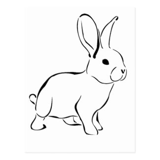 Sweet Bunny Cartoon Adorable Rabbit Postcard