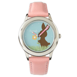 Sweet Bunny Rabbit Personalized Wristwatches