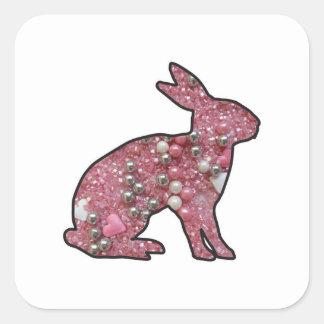 Sweet Bunny Square Sticker