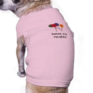Sweet, but naughty! sleeveless dog shirt