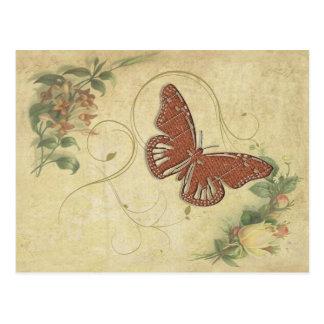 Sweet Butterfly ID198 Postcard