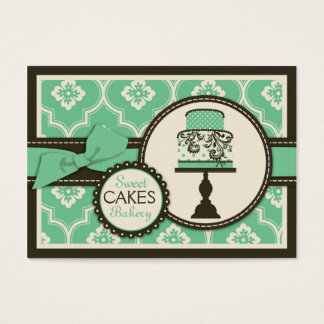 Sweet Cake Business Card Teal