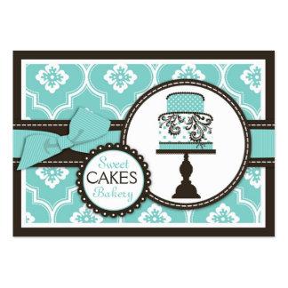Sweet Cake Business Card Turq
