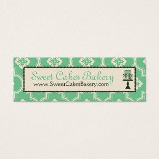 Sweet Cake Skinny Business Card Teal