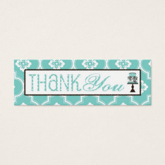 Sweet Cake Skinny TY Gift Tag Turq Mini Business Card