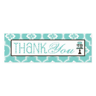 Sweet Cake Skinny TY Gift Tag Turq Pack Of Skinny Business Cards