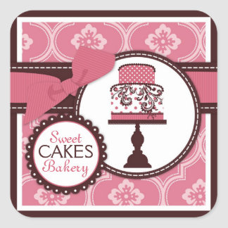 Sweet Cake Sticker Business Sticker