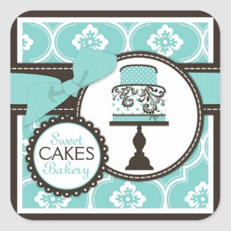 Sweet Cake Sticker Business Sticker Turq