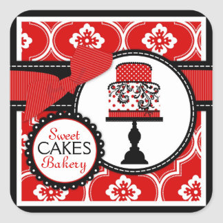 Sweet Cake Sticker Red B