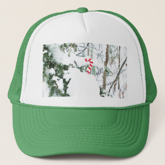 Sweet Candy Cane Decoration Trucker Hat