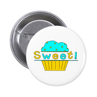 Sweet Candy Cupcakes 6 Cm Round Badge