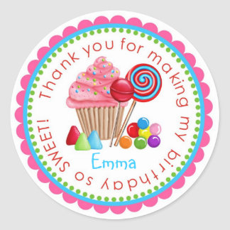 Sweet Candy Land Cupcake Lollipop Stickers