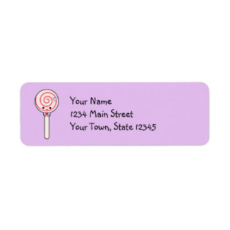 Sweet Candy Lollipop Return Address Label