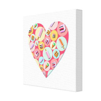 Sweet Candy Love Heart Canvas Print