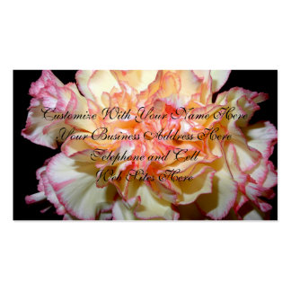 Sweet Carnation Delicate Floral Pack Of Standard Business Cards