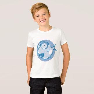 sweet cartoon fish blue tint funny illustration T-Shirt