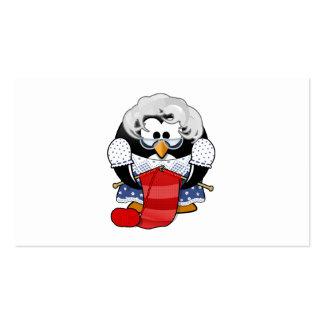 Sweet Cartoon Grandma Penguin Business Card