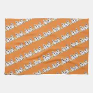 sweet cat face funny cartoon towels