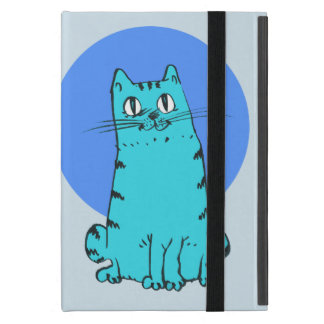 sweet cat sitting funny cartoon case for iPad mini