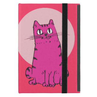 sweet cat sitting funny cartoon cover for iPad mini