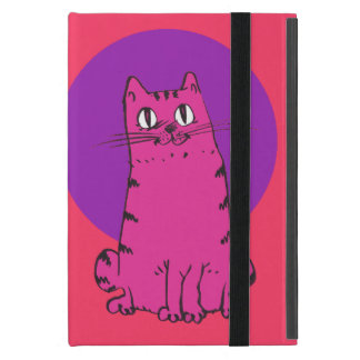 sweet cat sitting funny cartoon iPad mini cover