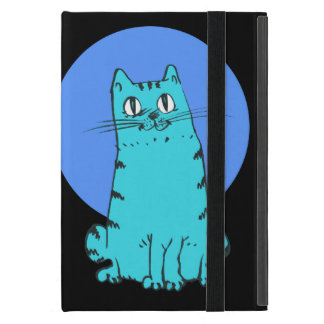 sweet cat sitting funny cartoon iPad mini covers