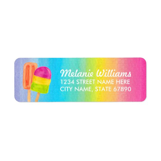 Sweet Celebration Return Address Label