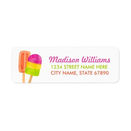 Sweet Celebration Return Address Label / White
