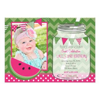 Sweet celebration Watermelon Birthday Invitation