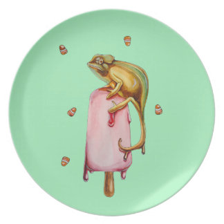 sweet chameleon plate