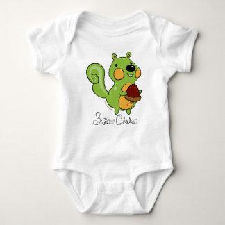 Sweet Cheeks in Green Baby Bodysuit