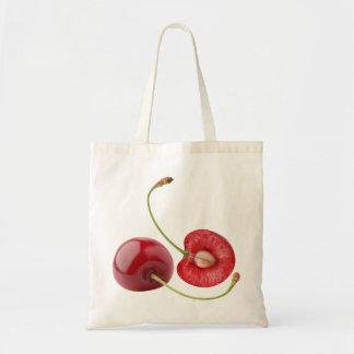 Sweet cherries budget tote bag