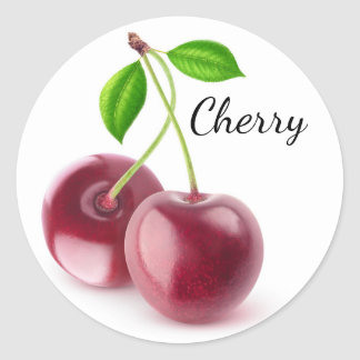 Sweet cherries classic round sticker