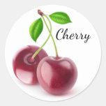 Sweet cherries round sticker