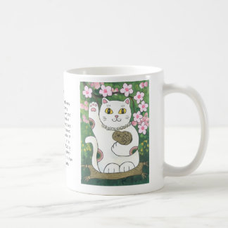 Sweet Cherry Blossom Neko Coffee Mug
