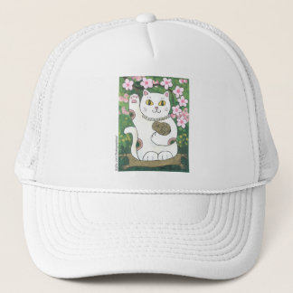 Sweet Cherry Blossom Neko Trucker Hat