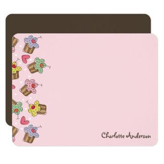 Sweet Cherry Cupcakes Girl Birthday Thank You Card 11 Cm X 14 Cm Invitation Card