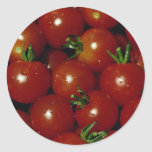 Sweet cherry tomatoes texture round stickers