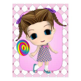 Sweet Chibi Girl Postcard